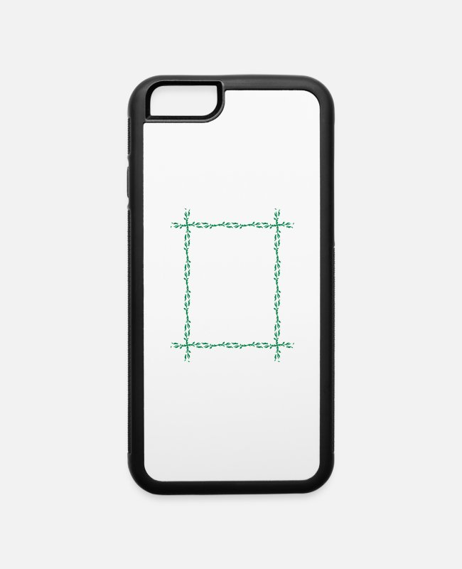 Take iPhone Cases - Leafy frame 15 - iPhone 6 Case white/black