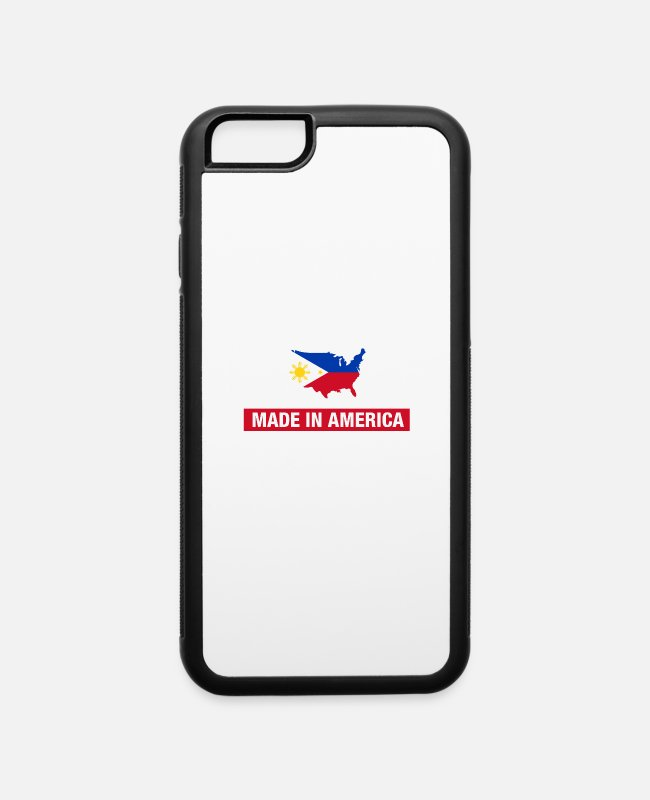 Half iPhone Cases - Made In America With Filipino Parts Philippines - iPhone 6 Case white/black