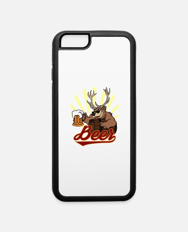 Stag iPhone Cases - Bear Deer Beer - iPhone 6 Case white/black