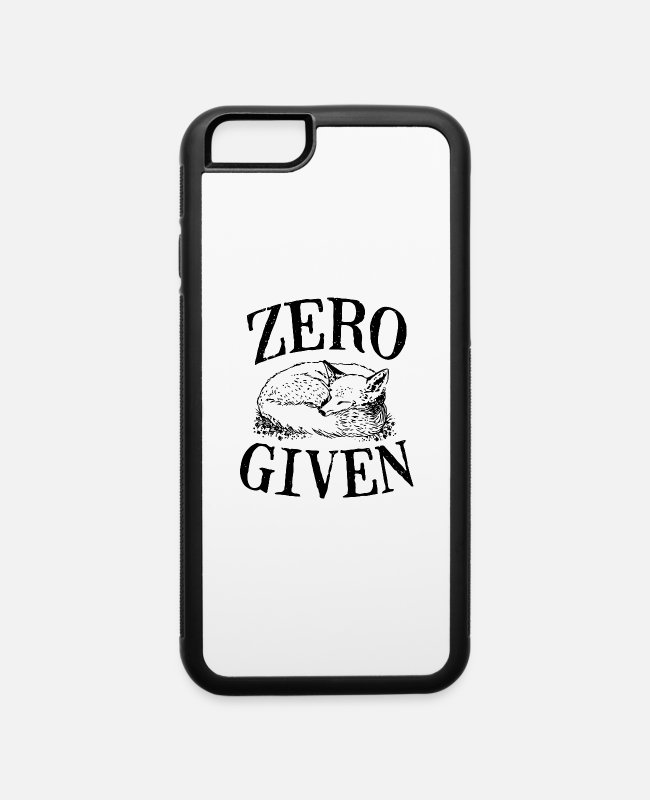Game iPhone Cases - Zero Fox Given vectorized - iPhone 6 Case white/black