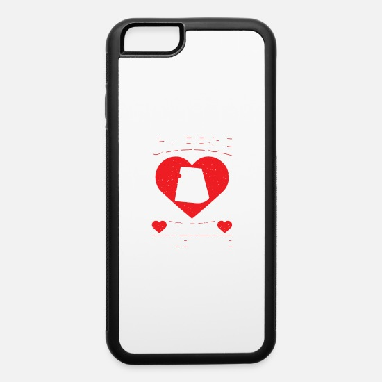 Heart iPhone Cases - Cheese Is My Valentine's Day Sweet Dairy Holiday - iPhone 6 Case white/black