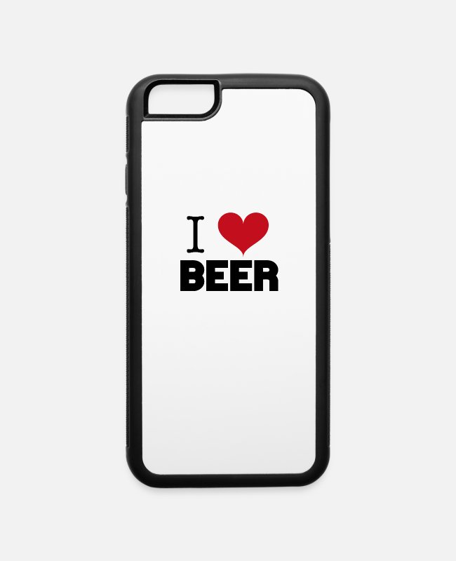 I Love iPhone Cases - I Love BEER - iPhone 6 Case white/black