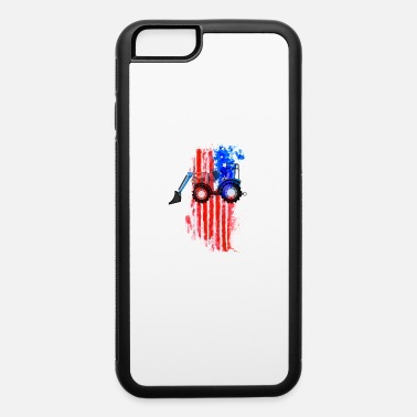 Tractor US Flag Tractor Farmer Front Loader Kids Digger - iPhone 6 Case