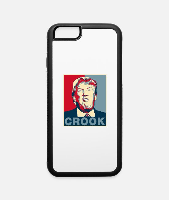 Criminal iPhone Cases - Trump Crook Poster Tee - iPhone 6 Case white/black