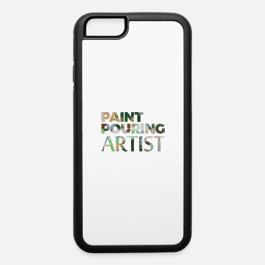 Acrylic paint pouring Acrylic artist colors gif - iPhone 6 Case