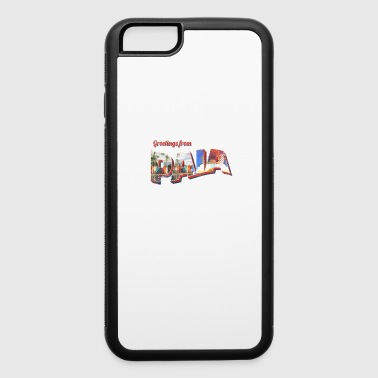 Greetings From Paia Beach Maui Postcard - iPhone 6/6s Rubber Case