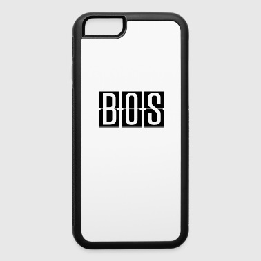 BOS - Boston Mass USA Airport Code - iPhone 6/6s Rubber Case