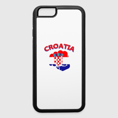 Croatia hand knuckle flag tees - iPhone 6/6s Rubber Case