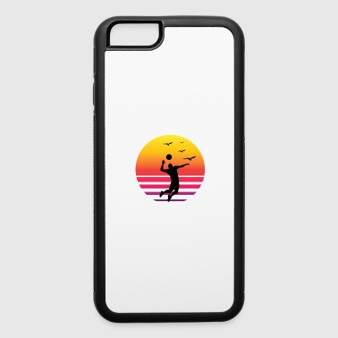 Volleyball Retro sunset beach - iPhone 6/6s Rubber Case