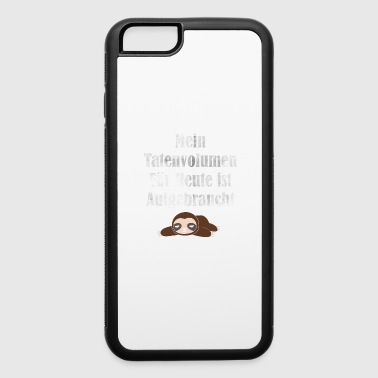 Lazy human sloth time lazy time sloth gift - iPhone 6/6s Rubber Case