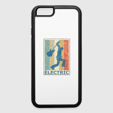 Retro Vintage Style Electric Guitar Player - iPhone 6/6s Rubber Case