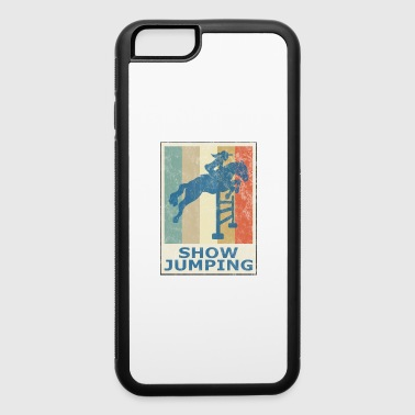 Retro Vintage Style Horses Riding Show Jumping - iPhone 6/6s Rubber Case