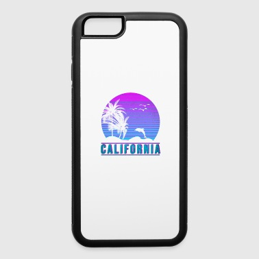 vaporwave aesthetic CALIFORNIA DOLPHIN vintage 80s - iPhone 6/6s Rubber Case