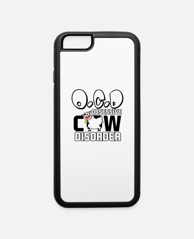 Christmas iPhone Cases - Cow Art for Women and Men Cattle Farmer Rancher Light - iPhone 6 Case white/black