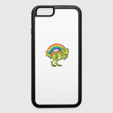 T Rex Riding Lazy Sloth Kids Tshirt Gift - iPhone 6/6s Rubber Case