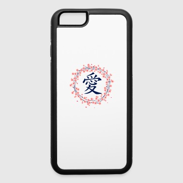 Kanji Japanese Kanji Love Sakura Cherry Blossom shirt - iPhone 6/6s Rubber Case