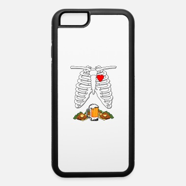Halloween Skeleton Food Skeleton X-Ray Beer & Schnitzel Pregnant Halloween - iPhone 6 Case