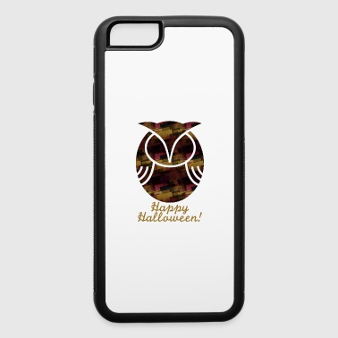 Owl stylish halloween Retro design gold - iPhone 6/6s Rubber Case