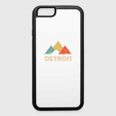 Detroit Retro City of Detroit Mountain Shirt - iPhone 6/6s Rubber Case