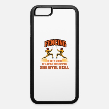 Athlete Fencing Fencer Swordplay Martial Arts Sports Gift - iPhone 6/6s Rubber Case