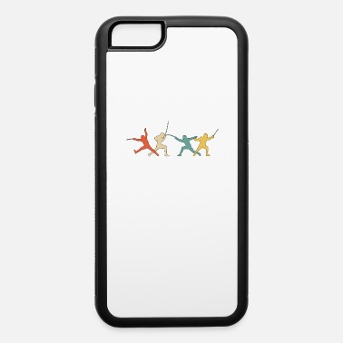 Fencing Retro Fencing Fencing Silhouettes Sword Gift - iPhone 6 Case
