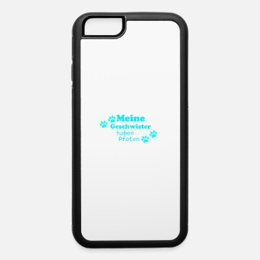 Stylish My siblings have paws - iPhone 6/6s Rubber Case