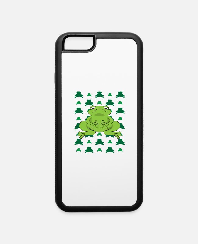 Design iPhone Cases - Frog Gift funny amphibians Design for Kids - iPhone 6 Case white/black