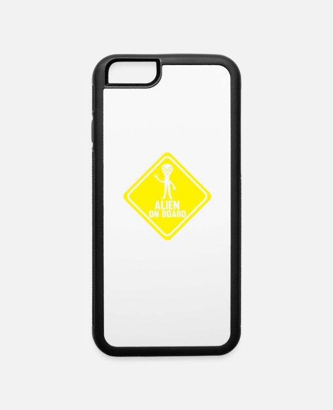 Easter iPhone Cases - Alien on Board - iPhone 6 Case white/black