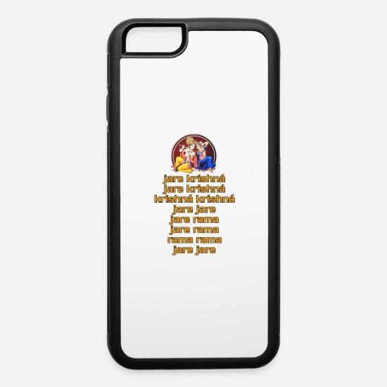 Krishna iPhone Cases - Hare Krishna Maha Mantra in Spanish - iPhone 6 Case white/black