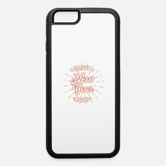 Gift Idea iPhone Cases - Happy New Year Party Gift Idee 2019 - iPhone 6 Case white/black