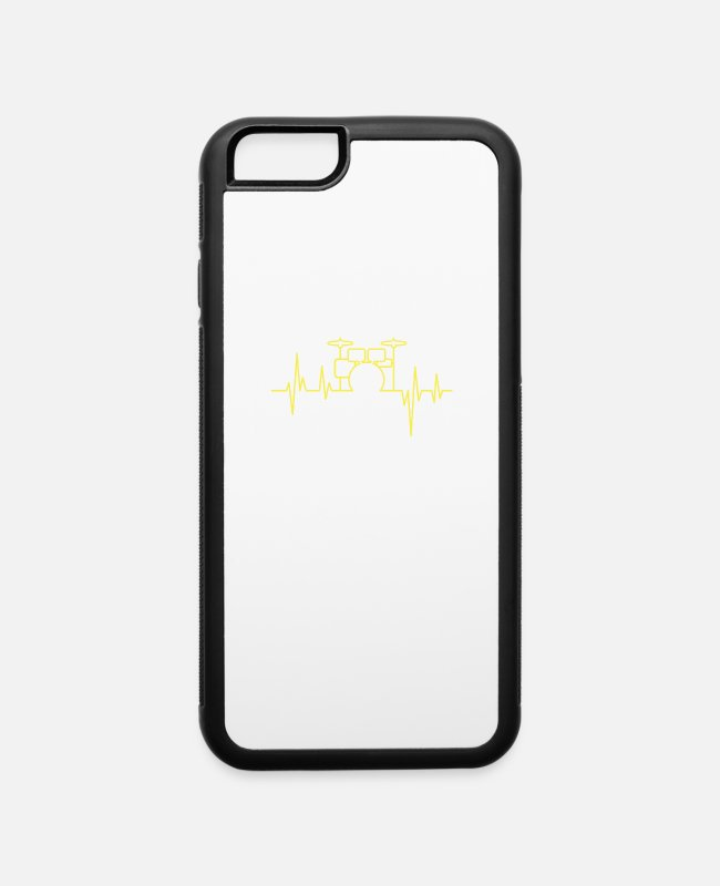 Quote iPhone Cases - Drummer Drums Heartbeat - iPhone 6 Case white/black