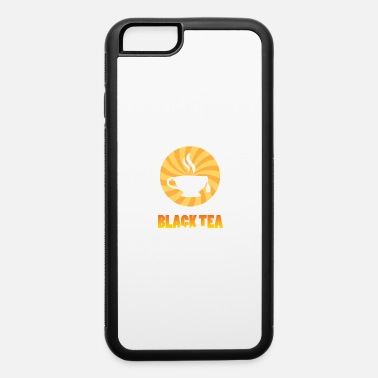 Relax Cool Retro Black Tea Silhouette Cup - iPhone 6/6s Rubber Case