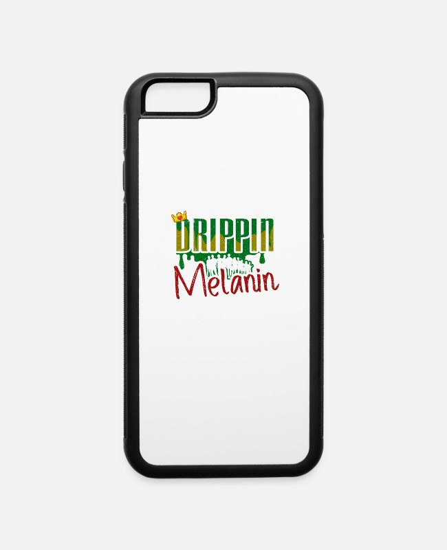 Month iPhone Cases - Black History Month African American Black Pride - iPhone 6 Case white/black