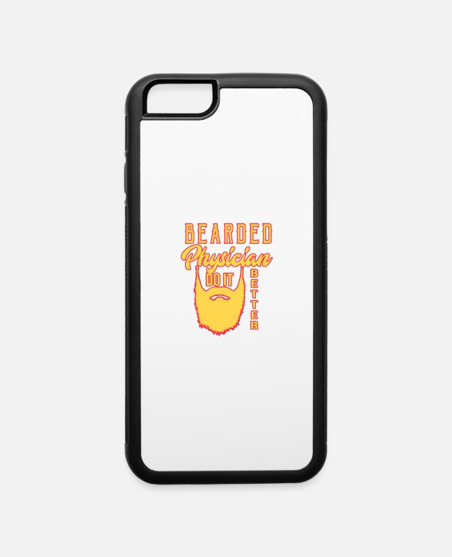Office iPhone Cases - Bearded physician. Do it better - iPhone 6 Case white/black