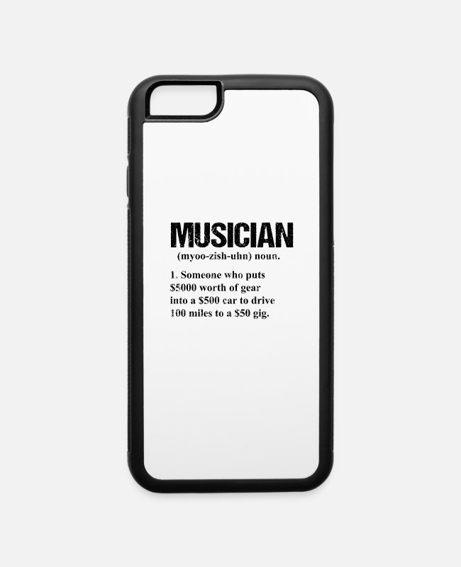 Sheet Music iPhone Cases - Musician Life Simplified Said Music Gift - iPhone 6 Case white/black