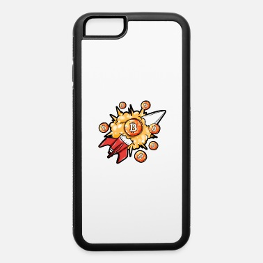 bitcoin rocket to the Moon Bubble Explosion Miner - iPhone 6 Case