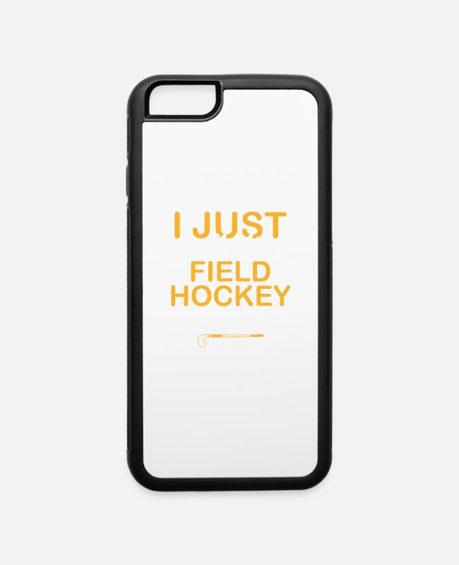 Field iPhone Cases - Hockey Sport Field Gift Team Team Hockey - iPhone 6 Case white/black