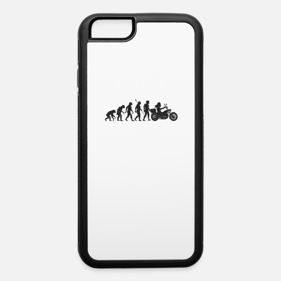 Gift Idea iPhone Cases - Biker Motorcyclist Motorcycle Evolution - iPhone 6 Case white/black