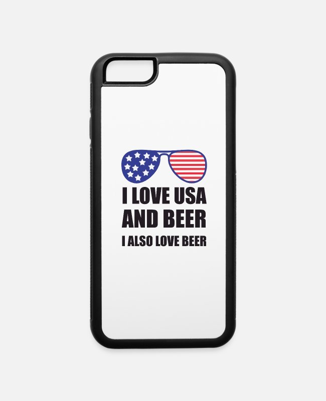I Love iPhone Cases - I Love USA and Beer - iPhone 6 Case white/black