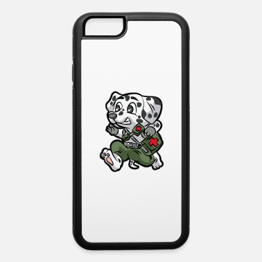 Private MILITARY DOG MEDIC Soldier Dalmatian funny - iPhone 6 Case