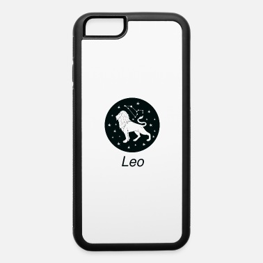 White Leo Zodiac Sign Astrology Universe Text T Shirt - iPhone 6 Case