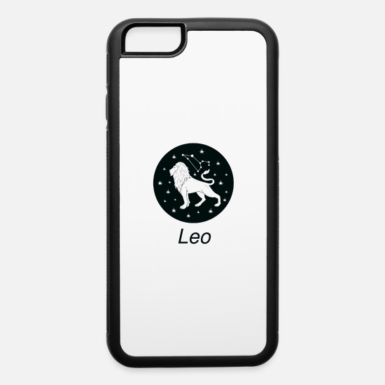 Girl iPhone Cases - Leo Zodiac Sign Astrology Universe Text T Shirt - iPhone 6 Case white/black