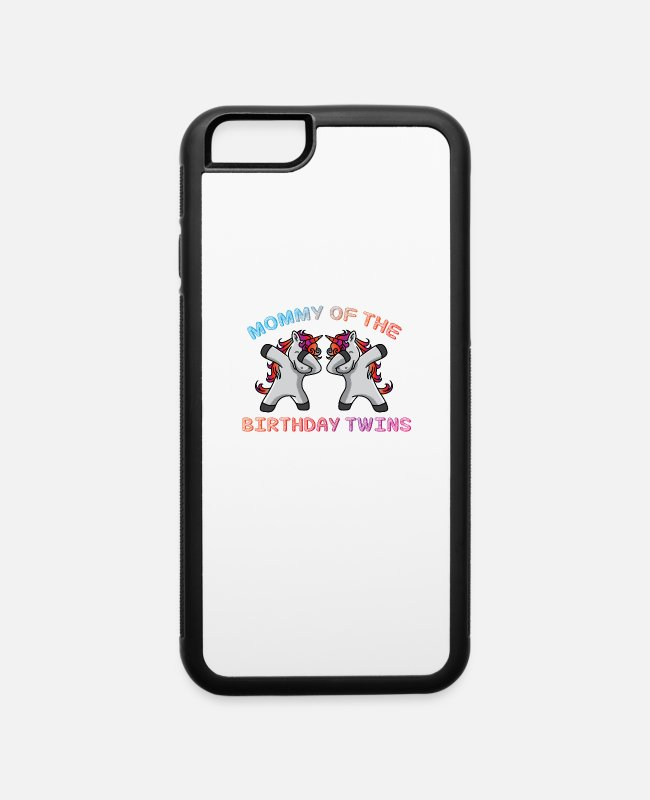 Pregnancy iPhone Cases - Birthday Mama Twins Pregnancy - iPhone 6 Case white/black