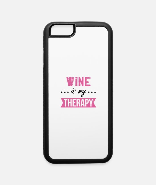 Wine iPhone Cases - Winemaker Wine Lover Funny Oenology Quote Gift - iPhone 6 Case white/black