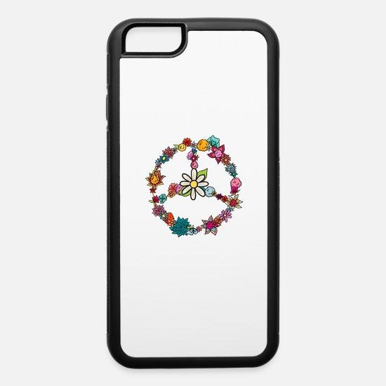 Math iPhone Cases - Hippie Costume Love Peace 60s 70s - iPhone 6 Case white/black