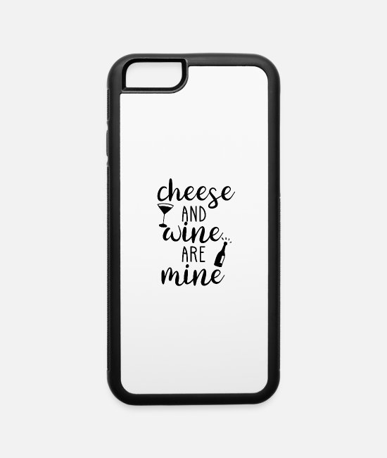 Wine iPhone Cases - Winemaker Wine Lover Cheese Oenology Quote Gift - iPhone 6 Case white/black