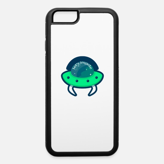 Gift Idea iPhone Cases - Alien Ufo Aliens Universe All Cosmos Ship - iPhone 6 Case white/black