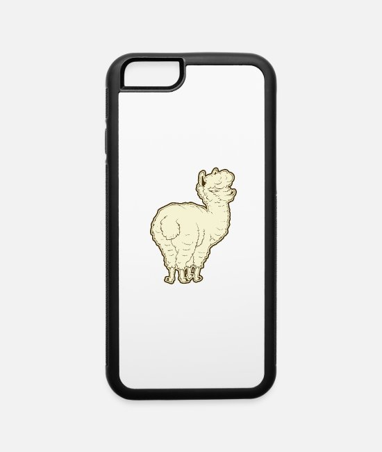 Andes iPhone Cases - Cute Alpaca - iPhone 6 Case white/black