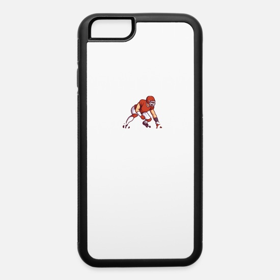 Rugby iPhone Cases - Happiest when i m at American Football - iPhone 6 Case white/black