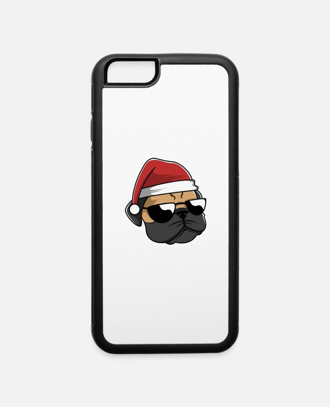 Dog Owner iPhone Cases - Pug Christmas - iPhone 6 Case white/black